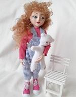 Интерьерная кукла КУДРЯШКА